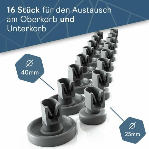 16 X Korbrollen Oben Unten Für Spülmaschine Progress PV3570 PV1530 PV1535 PV1540