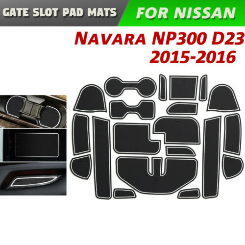 Gate slot pad for Nissan Navara NP300 D23 Anti-Slip Rubber Cup Door Groove Mat