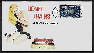 Lionel 2321 Lackawanna /& Pin Up Girl Featured on Collector/'s Envelope *A263
