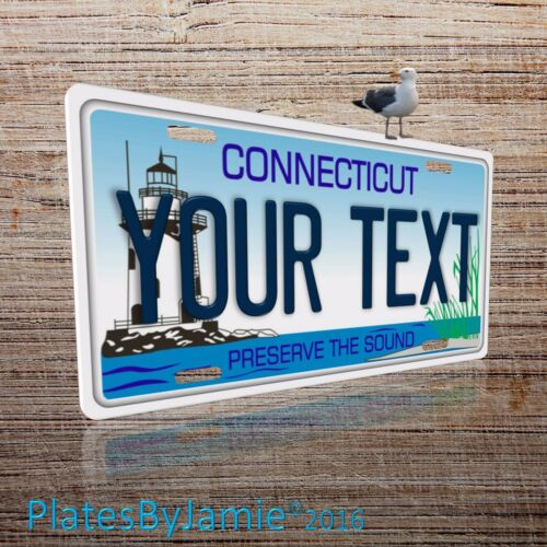Connecticut State Aluminum Novelty License Plate Tag Personalized Custom New