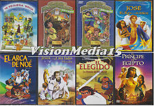 SEALED 8 Pack Mi Pequena Biblia DVD 10 Mandamientos Atca De Noe SHIPS NOW !