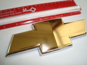SUPER GOLD BOWTIE EMBLEM />~ HHR UPLANDER SONIC TAHOE IMPALA CRUZE EQUINOX