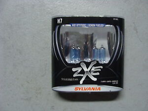 sylvania silverstar h7 zxe xenon bulbs brand new sealed. Black Bedroom Furniture Sets. Home Design Ideas