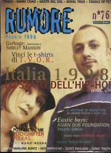 RUMORE-76-1998-LA-PINA-NEFFA-FUGAZI-MANU-CHAO-ROYAL-TRUX-MANO-NEGRO-SONIC-YOUTH