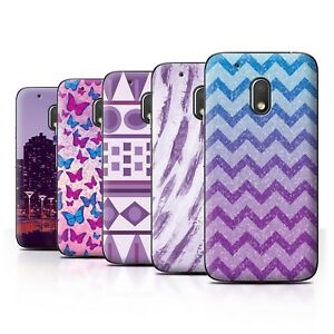 on sale a7d96 aa0a3 Details about STUFF4 Back Case/Cover/Skin for Motorola Moto G4 Play/Purple  Fashion