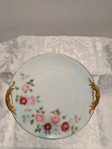 Antique MZ Austria Hand-painted Cake Plates