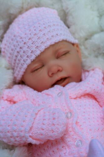 REBORN BABY GIRL DOLL PINK KNITTED SPANISH OUTFIT E112 BUTTERFLY BABIES