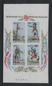FRANCE-BLOC-FEUILLET-YVERT-10a-034-REVOLUTION-1989-NON-DENTELE-034-NEUF-xx-LUXE-T437