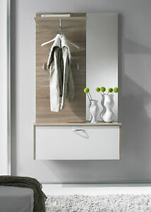 garderobe sara flurgarderobe garderobenpaneel spiegel wandgarderobe ebay. Black Bedroom Furniture Sets. Home Design Ideas