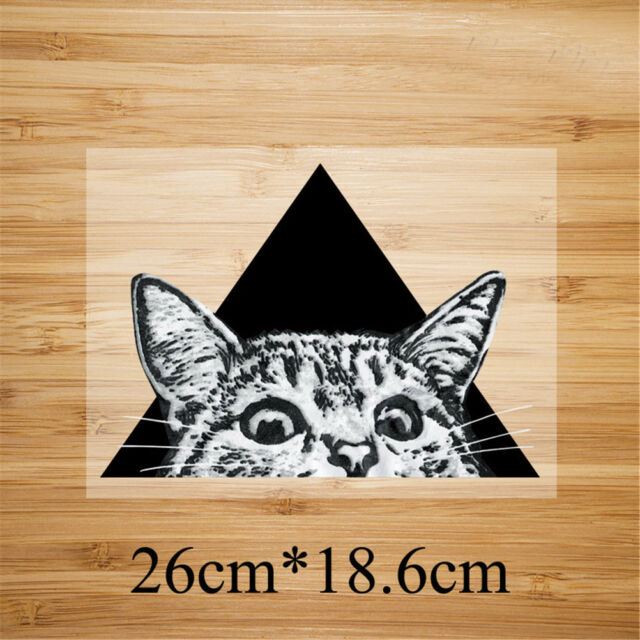 triangle cat pattern patch ironing stickers heat transfer iron on patches PT