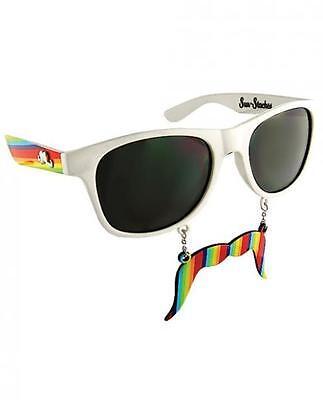 Sun Staches Rainbow LGBTQ Sunglasses Eye Glasses Funny Mask Gag Gift Halloween