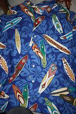 North Sails Big Island Hawaiian Mens XXL hawaiian shirt Surf Boards cotton rayon