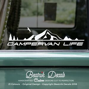Motorhome-Camper-Van-Life-Sticker-Decal-Graphic-Mountain-Camping-RV-Caravan-40cm