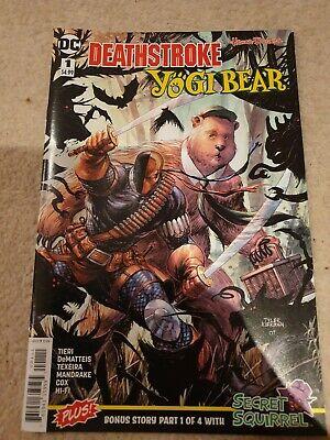 2018 Bag/&board $4.99 1ST PRINT DC UNIVERSE DEATHSTROKE YOGI BEAR SPECIAL #1