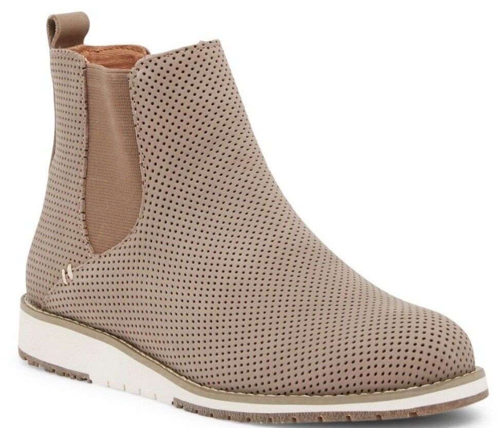 EMU Australia Women's Taria Chelsea Ankle Boots Perforated Suede MUSHROOM Size 8