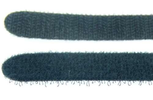 10 x Klettband 30 cm x 28 mm schwarz Klettkabelbinder Kabelbinder Kabelklettband