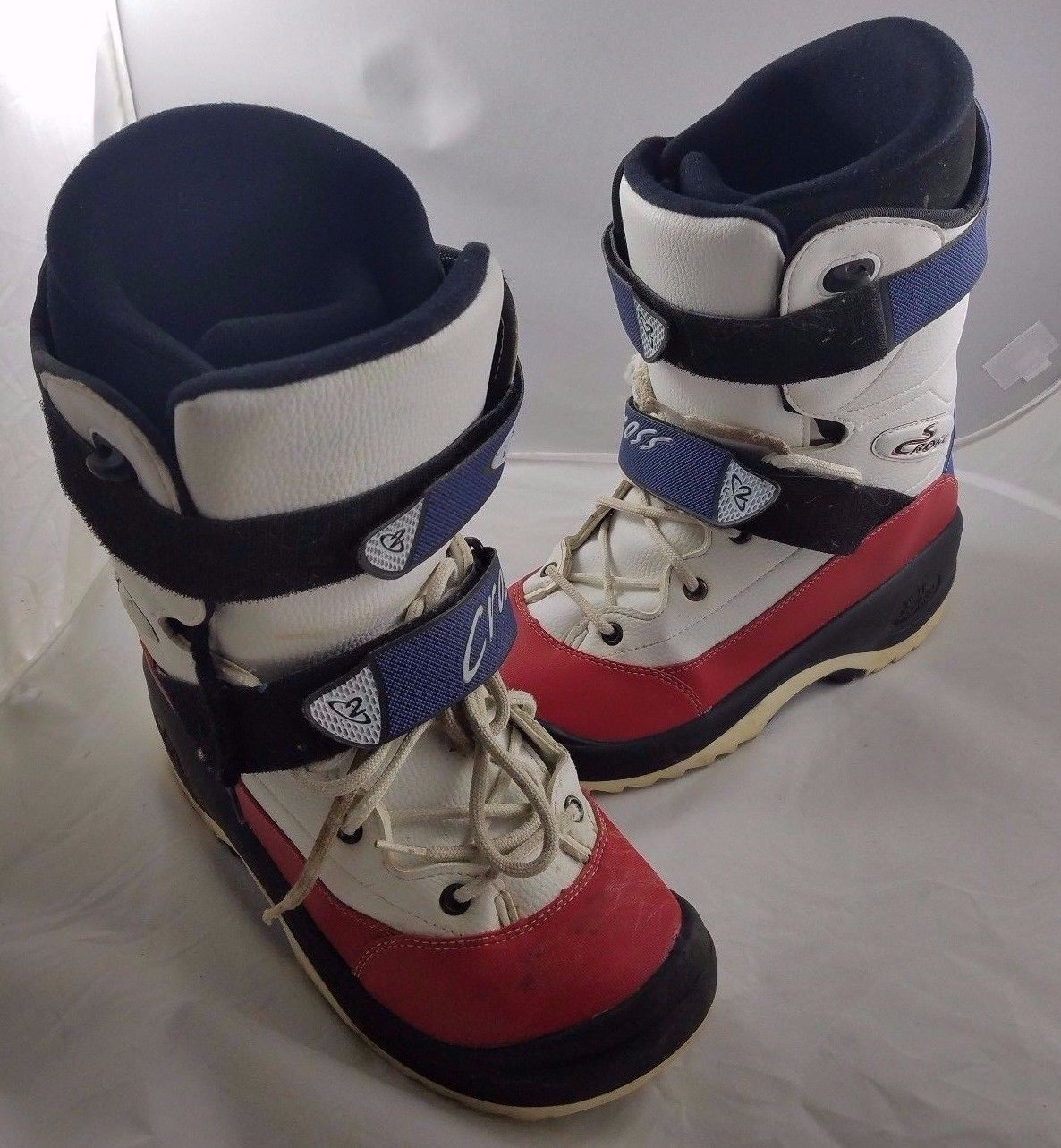 Mens Squib Oxygen O2 S Cross Snowboarding Boots Size 13.5  Red White bluee