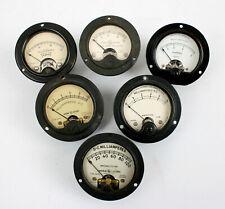 6 Vintage Amperes Meter Radio Frequency Gauges Ge Weston Sparton Triplett