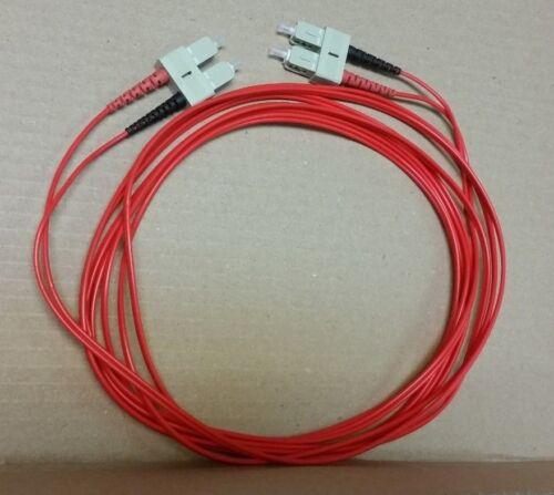 6M SC-SC Multimode 50//125 Duplex Fiber Optic Cable 6 Meter Red 2mm Jacket New