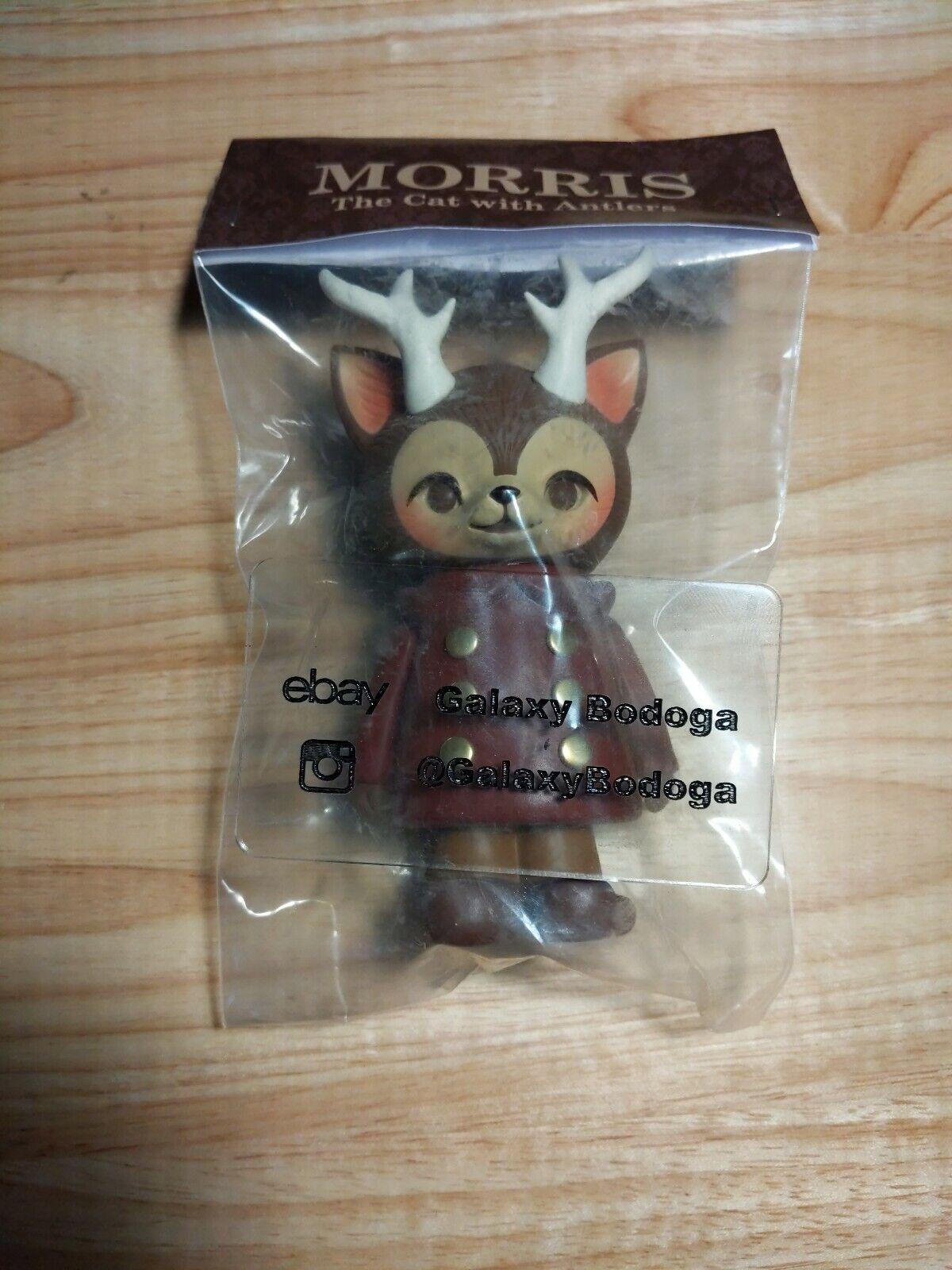 Kaori Hinata rot MORRIS Hinatique the cat with Antlers Sofubi Vinyl Figure New