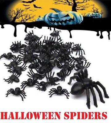9 x Large Halloween Araignées Parti Décoration Accessoires Farce Plastique Faux DECOR 9 CM