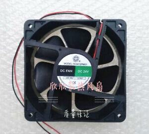 1 PCS  Bi-onic Fan YM2412PMS1 12cm  12038 DC 24V 0.34A  2 Wire