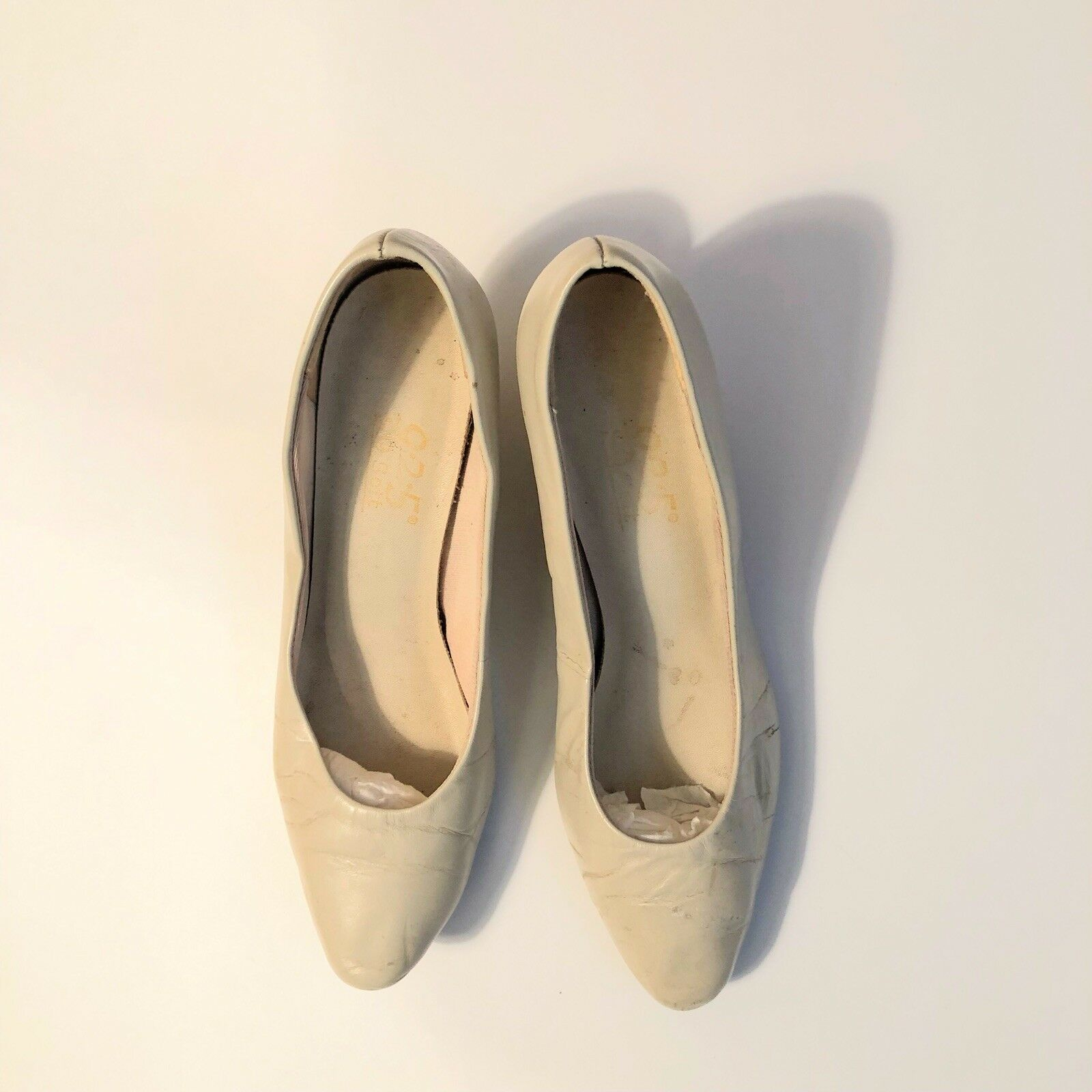Sz Sz Sz 6 Ivory Beige Leather Pumps 9-2-5 So Soft with 2  High Heel 54e548