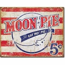 Vintage Replica Tin Metal Sign MOON Pie lookout brand sandwich snack cake 1922