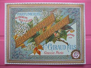 1-ANCIENNE-ETIQUETTE-DE-PARFUM-AU-LILAS-BLANC-ANTIQUE-PERFUME-LABEL-FRENCH-PARIS