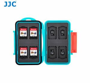 2 CF Card Rubber Interior Portable Ring JJC Memory Card Case MC-6B Stores 4 SD