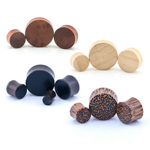 Details about ORGANIC WOOD Wooden Plug Ear DOUBLE FLARE Saddle Flesh Tunnel  Stretcher Expander