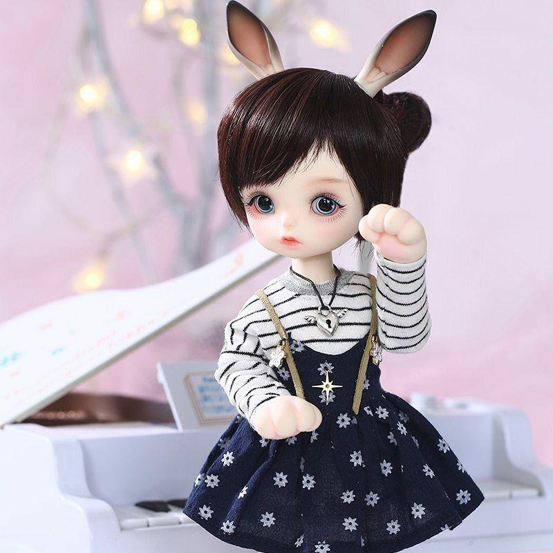Muñeca BJD gato recast kawaii Aimerai Gina BJD SD Doll 1 6 Rabbit Ear cute tiny
