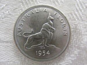 1954 Royal Visit Florin Australia Coin Lot 3 Very Good Condition