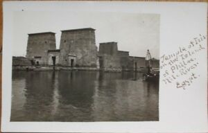 Egypt 1915 Realphoto Postcard: Temple of Isis, Island of Philae on the Nile - 2