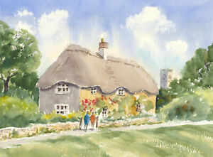 John-A-Case-Contemporary-Watercolour-Vibrant-Floral-Cottage-Study