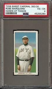 1909-11 T206 HOF Rube Marquard Hands at Thighs Sweet Caporal 350 New York PSA 4