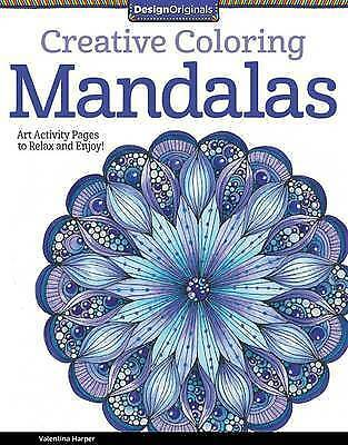 1 of 1 - Design Originals Creative Coloring Mandalas by Valentina Harper NEW (P/B 2014)
