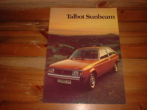 TALBOT-SUNBEAM-RANGE-INCLUDIND-TI-EARLY-SALES-BROCHURE-JAN-1980