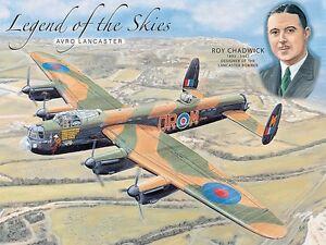 Leyenda-de-en-el-Cielo-Avro-Lancaster-Pequeno-Acero-Signo-200mm-x-150mm-Og