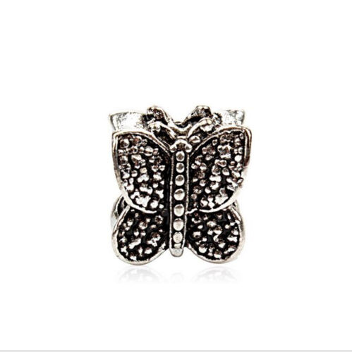 HJ022 5PCS Charm Alloy  Big Hole Beads fit European Silver Bracelet DIY-