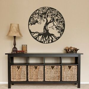 Celtic tree of life wall sticker removable headboard home for Celtic decorations home