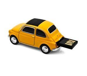 cl usb voiture fiat 500 16 go auto usb stick pen drive. Black Bedroom Furniture Sets. Home Design Ideas