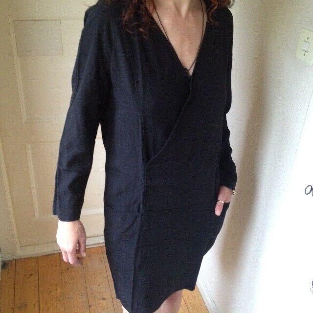 COS _ KLEID Casual Chic Schlicht_ Elegant Straight Dress Cross Front _ Gr 38 40