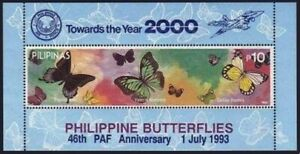Philippines 2239b sheet,MNH. Butterflies 1993.Air Force.Towards the year 2000