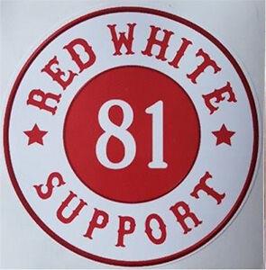 hells angels support red white 81 support aufkleber original 81 support ebay. Black Bedroom Furniture Sets. Home Design Ideas