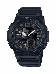Casio-Men-039-s-Quartz-Analog-Digital-Black-Resin-Band-47mm-Watch-AEQ100W-1BV