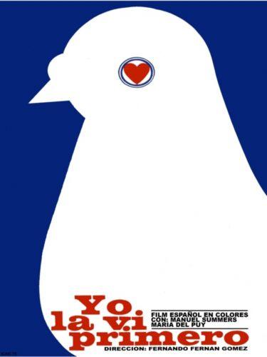 845.Movie Poster.Yo la vi primero.Lovely Pigeon.Modern interior design art