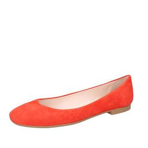 new styles e12c4 6226b Details zu Damen schuhe BALLY 35 EU ballerinas orange wildleder BY36-B