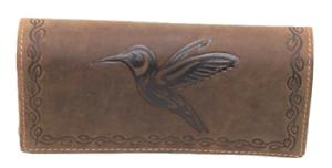 Geldboerse-Bueffelleder-Kolibri-Smartphon-Damenboerse-Naturleder-Geldboerse-Robust