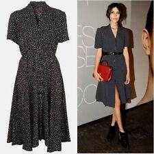 Topshop Motel Black Ditsy Star Moon Print Flippy Shirt Dress - Size XS 6